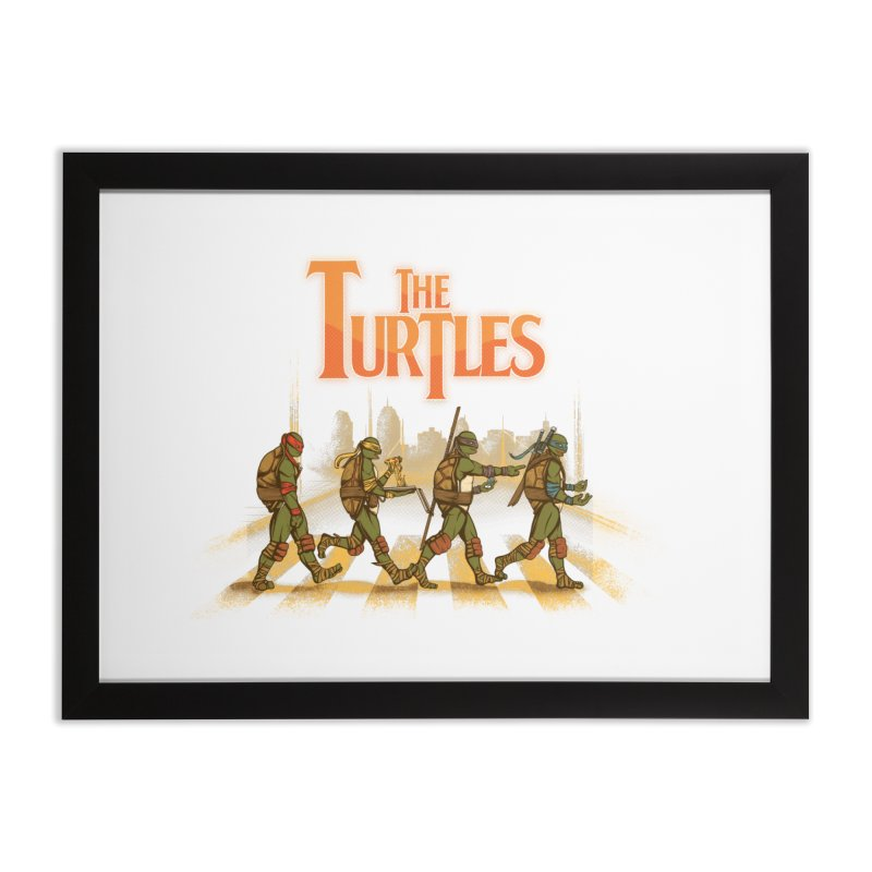The Turtles Home Framed Fine Art Print by Red Bug's Artist Shop