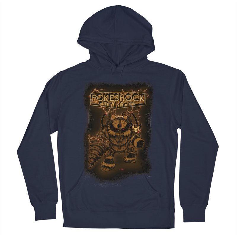 PokeShock Men's French Terry Pullover Hoody by Red Bug's Artist Shop