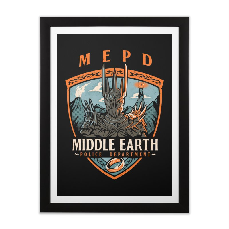Middle Earth Police Home Framed Fine Art Print by Red Bug's Artist Shop