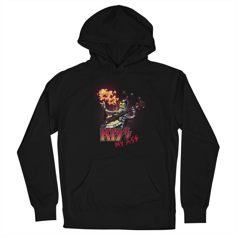Kiss My Ass Men's French Terry Pullover Hoody by Red Bug's Artist Shop