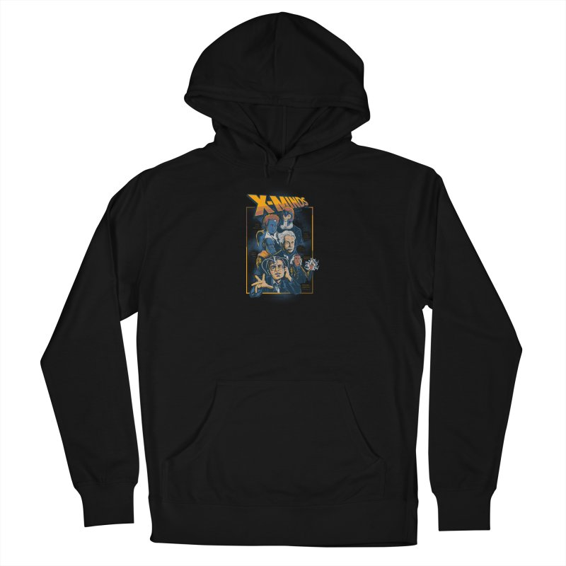 X Minds Men's French Terry Pullover Hoody by Red Bug's Artist Shop