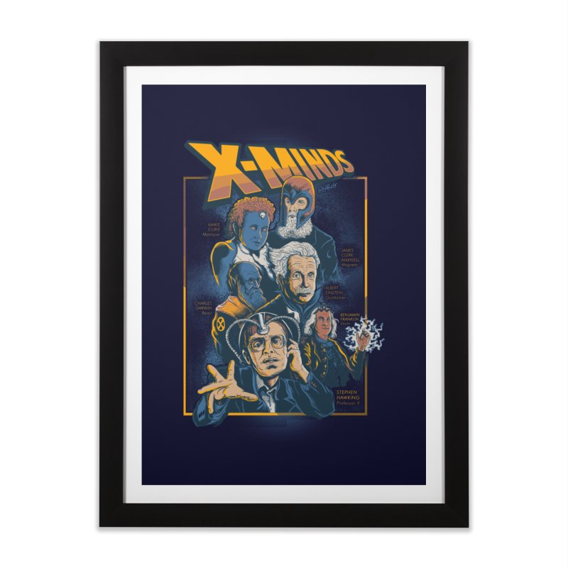X Minds Home Framed Fine Art Print by Red Bug's Artist Shop