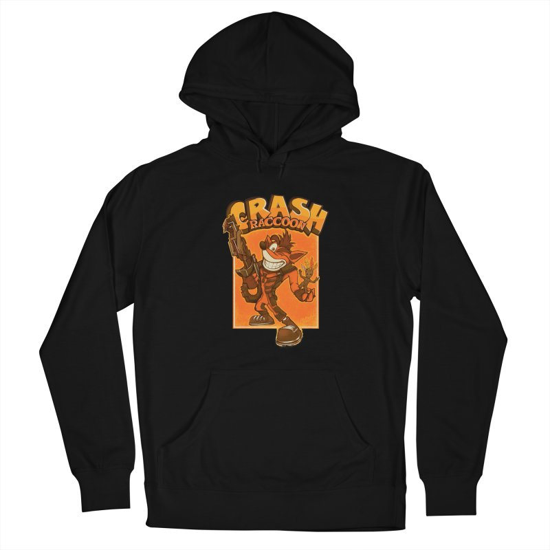 Crash Raccoon Men's French Terry Pullover Hoody by Red Bug's Artist Shop