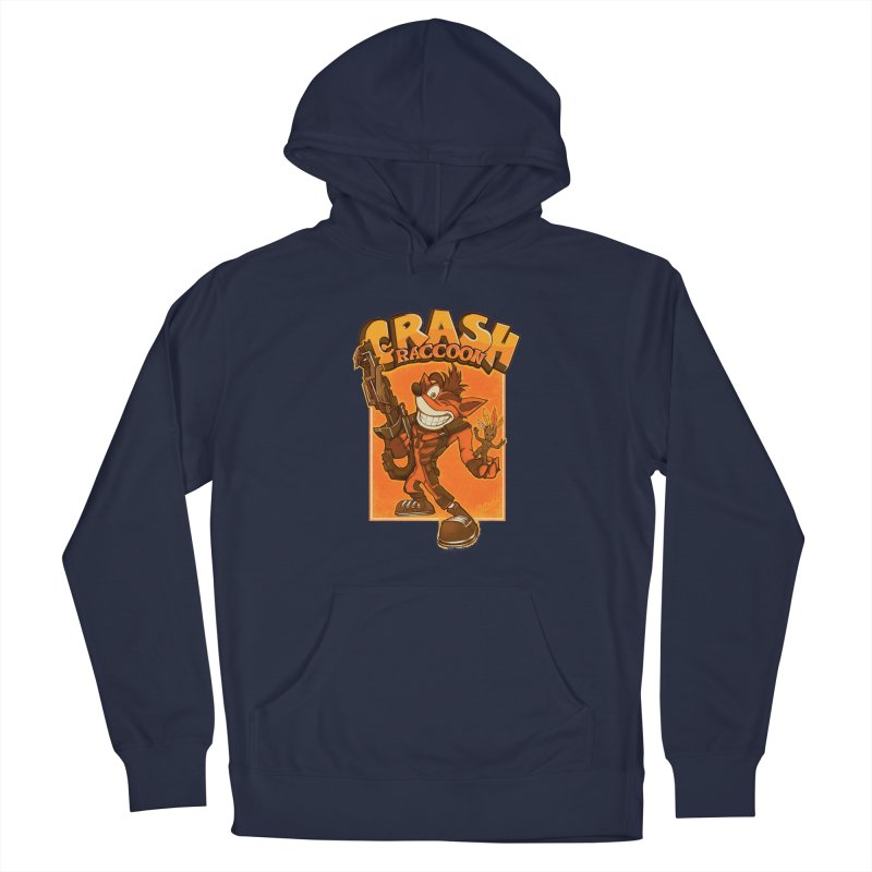 Crash Raccoon Men's Pullover Hoody by Red Bug's Artist Shop
