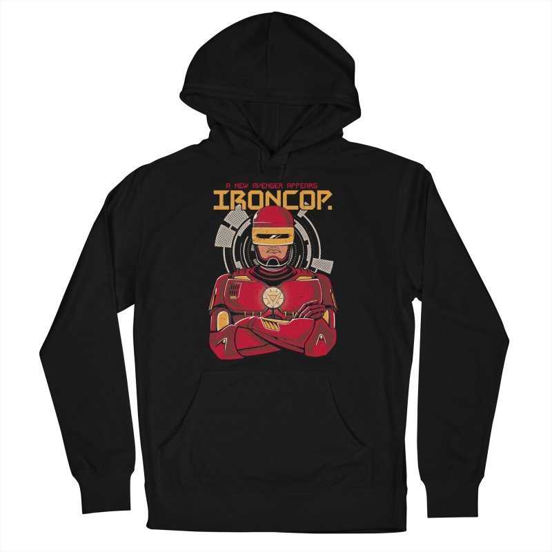 IronCop Men's French Terry Pullover Hoody by Red Bug's Artist Shop