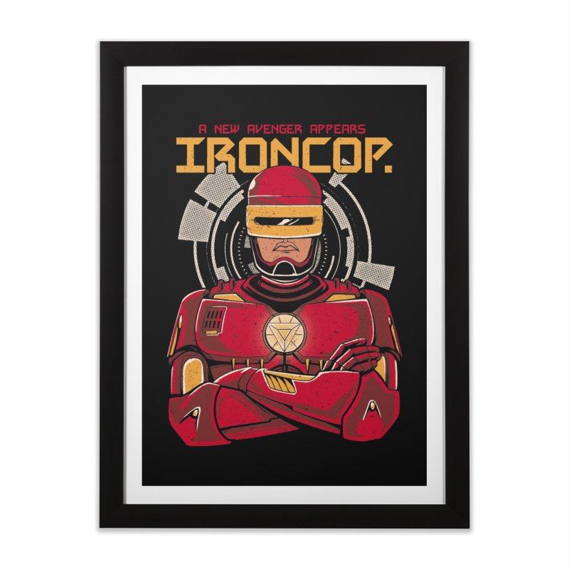 IronCop Home Framed Fine Art Print by Red Bug's Artist Shop