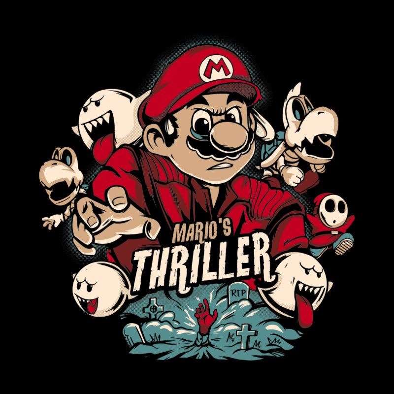Mario's Triller Men's Pullover Hoody by Red Bug's Artist Shop