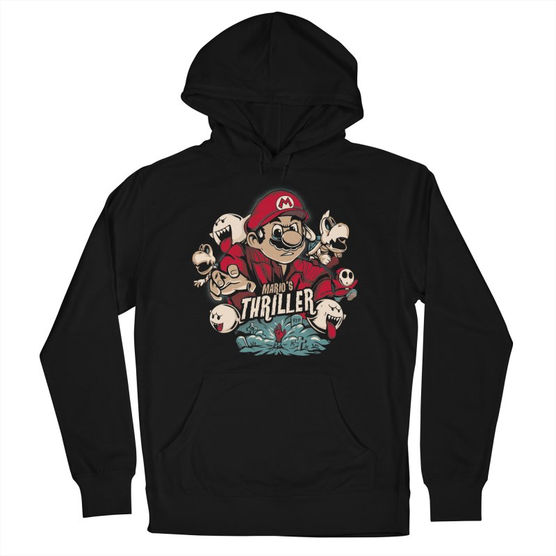 Mario's Triller Men's French Terry Pullover Hoody by Red Bug's Artist Shop