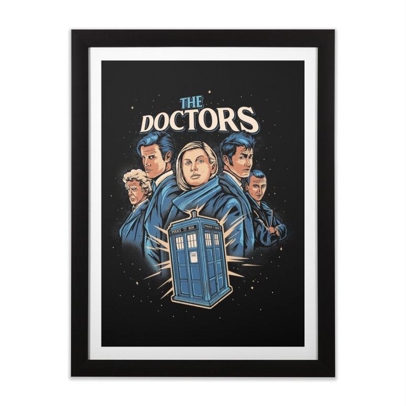 Doctors Home Framed Fine Art Print by Red Bug's Artist Shop