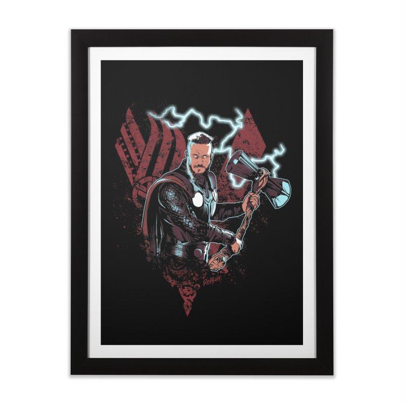 Thunder Viking Home Framed Fine Art Print by Red Bug's Artist Shop