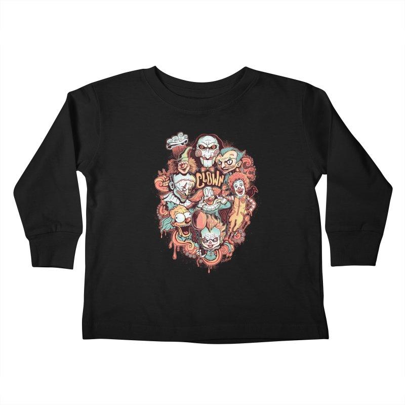 Clowns Kids Toddler Longsleeve T-Shirt by Red Bug's Artist Shop