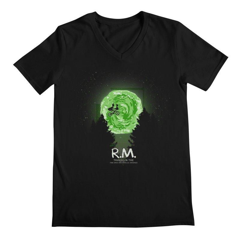 R.M. Men's Regular V-Neck by Red Bug's Artist Shop