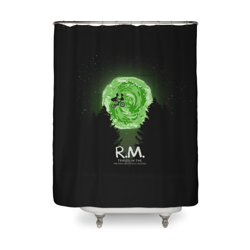 R.M. Home Shower Curtain by Red Bug's Artist Shop