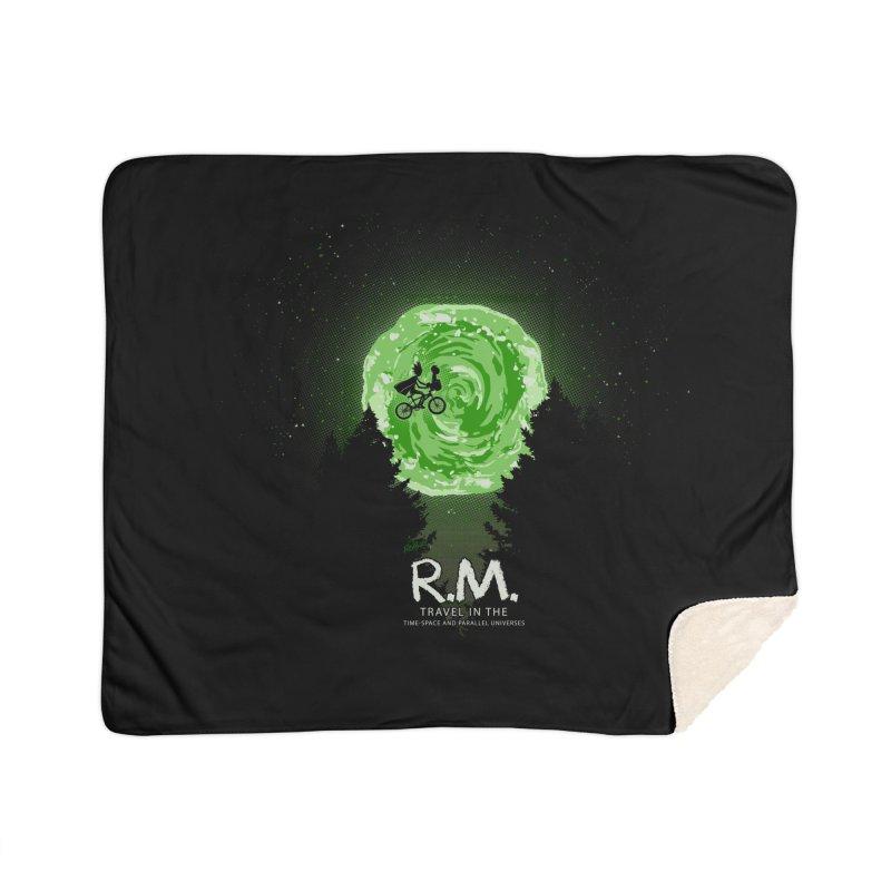 R.M. Home Sherpa Blanket Blanket by Red Bug's Artist Shop