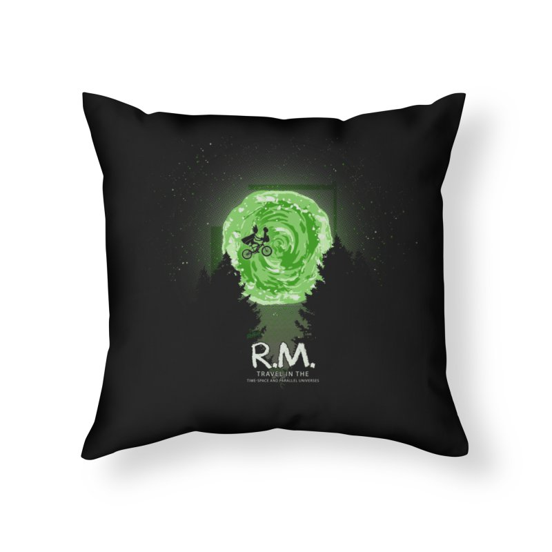 R.M. Home Throw Pillow by Red Bug's Artist Shop