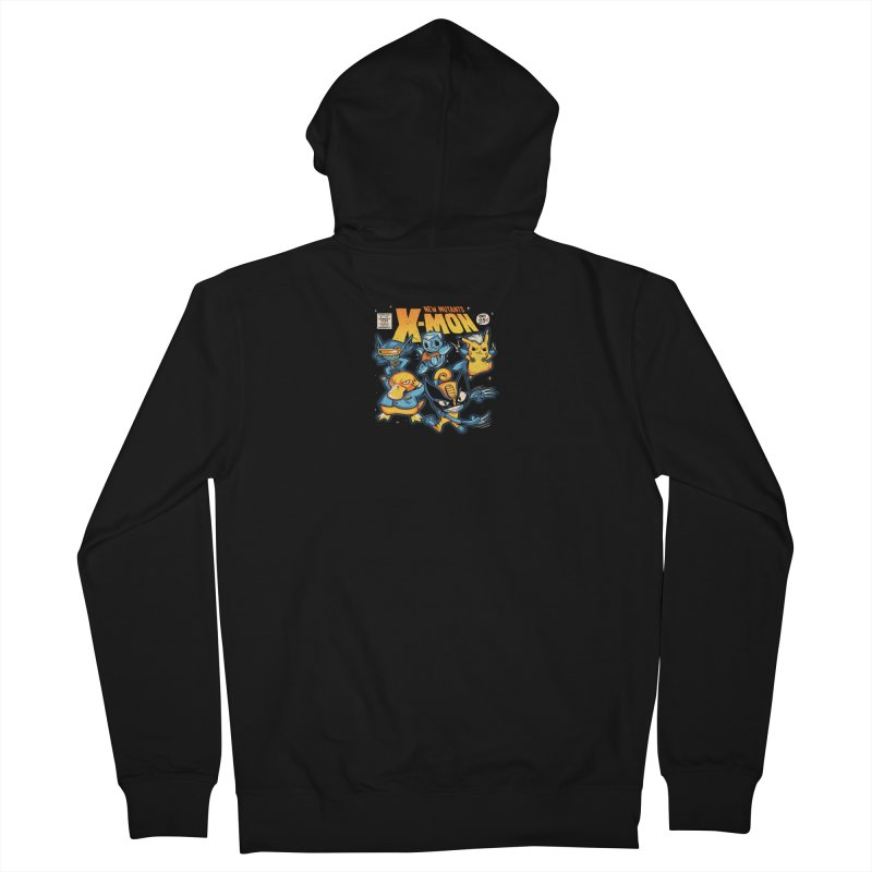 X-Mon Men's French Terry Zip-Up Hoody by Red Bug's Artist Shop
