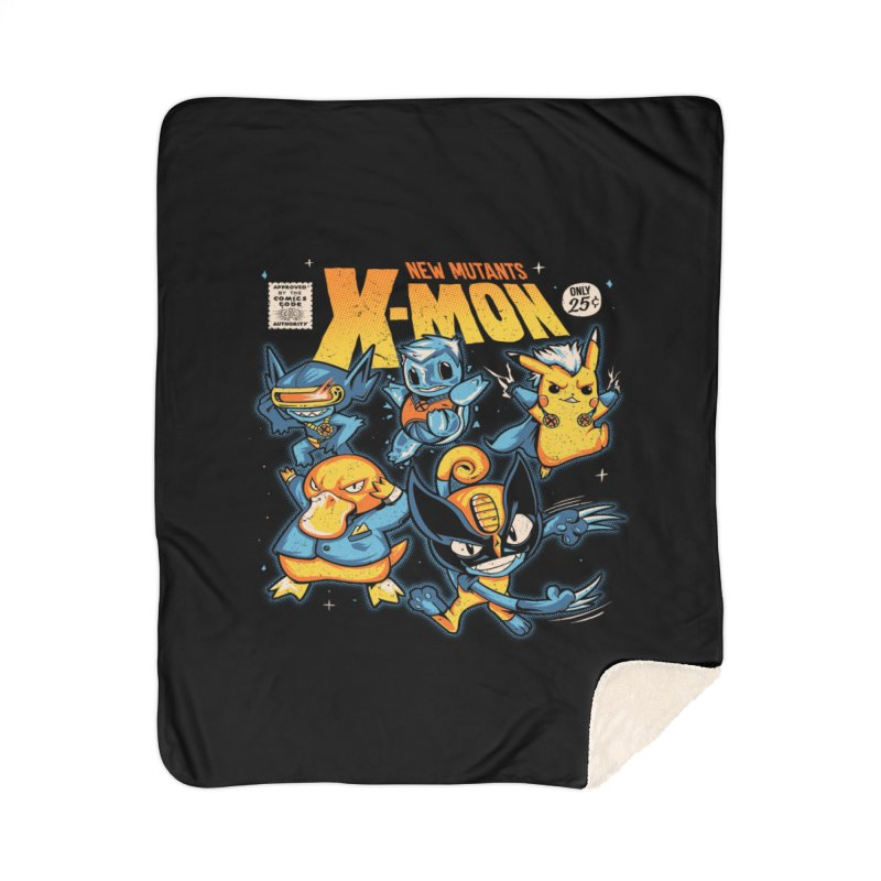 X-Mon Home Sherpa Blanket Blanket by Red Bug's Artist Shop