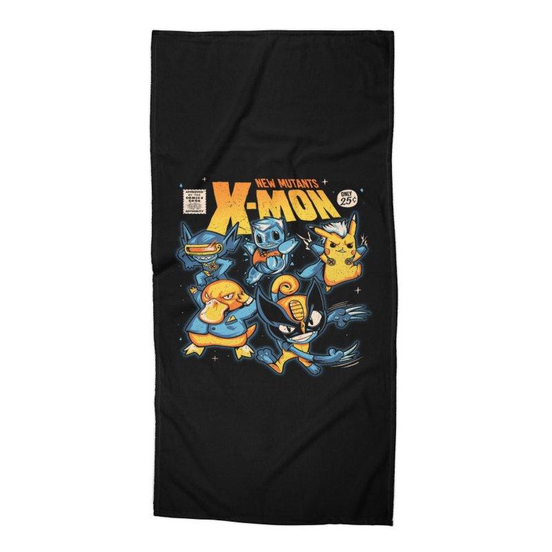 X-Mon Accessories Beach Towel by Red Bug's Artist Shop