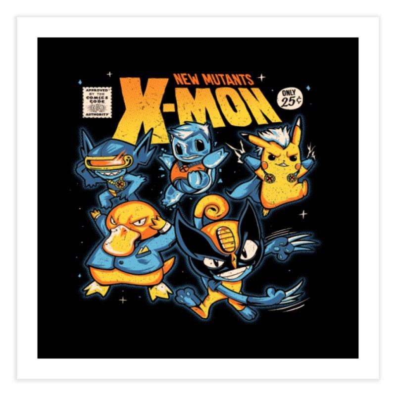 X-Mon Home Fine Art Print by Red Bug's Artist Shop