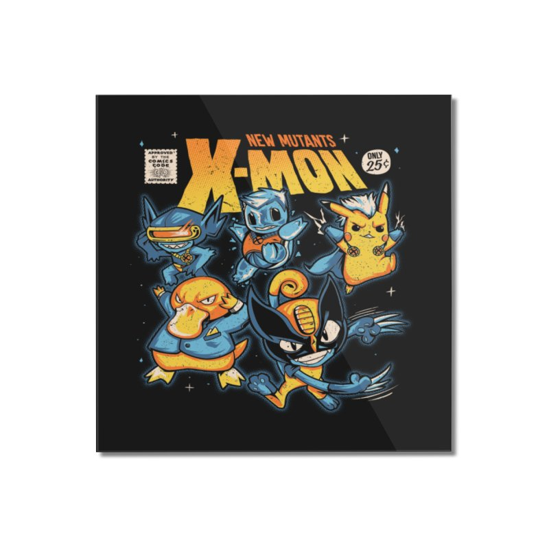 X-Mon Home Mounted Acrylic Print by Red Bug's Artist Shop