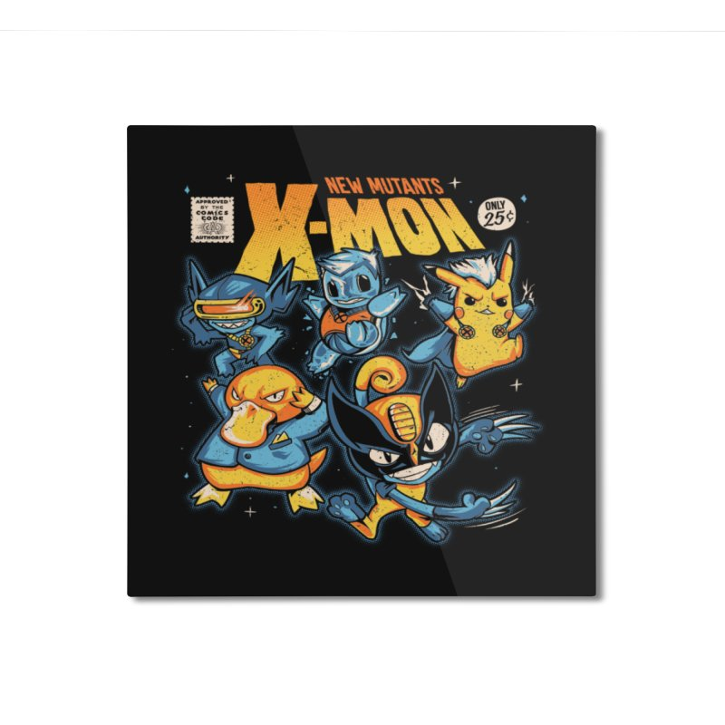 X-Mon Home Mounted Aluminum Print by Red Bug's Artist Shop