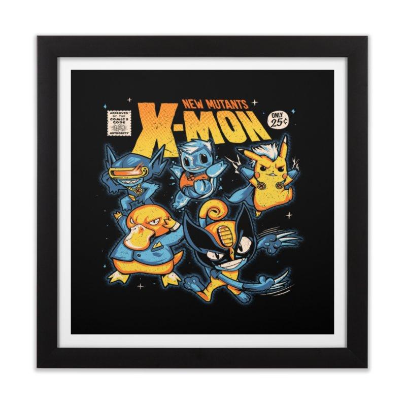 X-Mon Home Framed Fine Art Print by Red Bug's Artist Shop