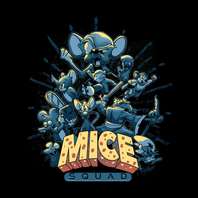 Mice Squad Home Framed Fine Art Print by Red Bug's Artist Shop