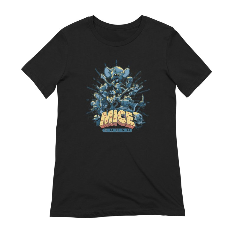 Mice Squad Women's Extra Soft T-Shirt by Red Bug's Artist Shop