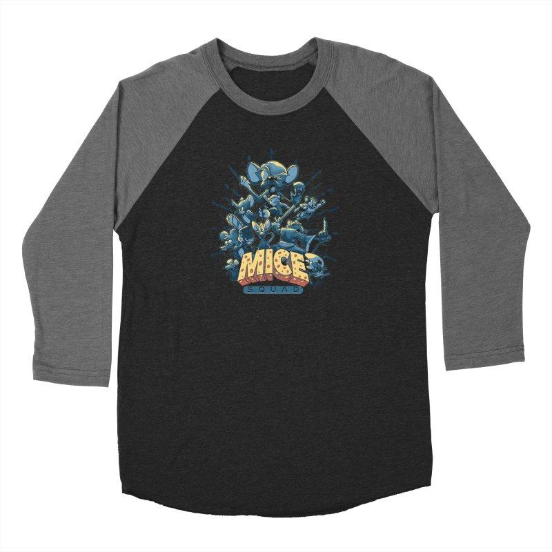 Mice Squad Men's Baseball Triblend Longsleeve T-Shirt by Red Bug's Artist Shop
