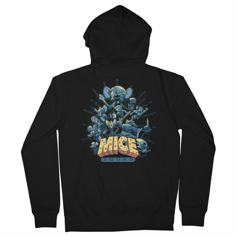 Mice Squad Women's French Terry Zip-Up Hoody by Red Bug's Artist Shop