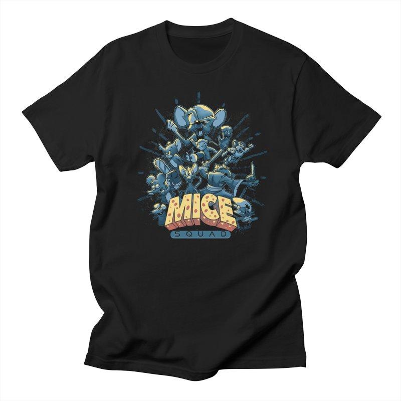 Mice Squad Women's Regular Unisex T-Shirt by Red Bug's Artist Shop