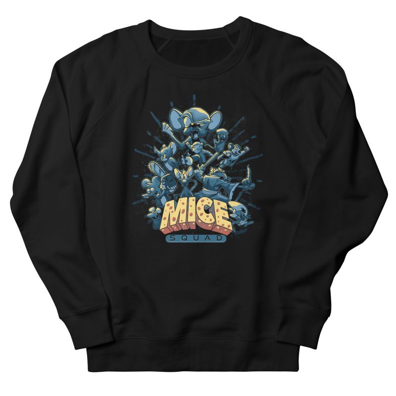 Mice Squad Men's French Terry Sweatshirt by Red Bug's Artist Shop