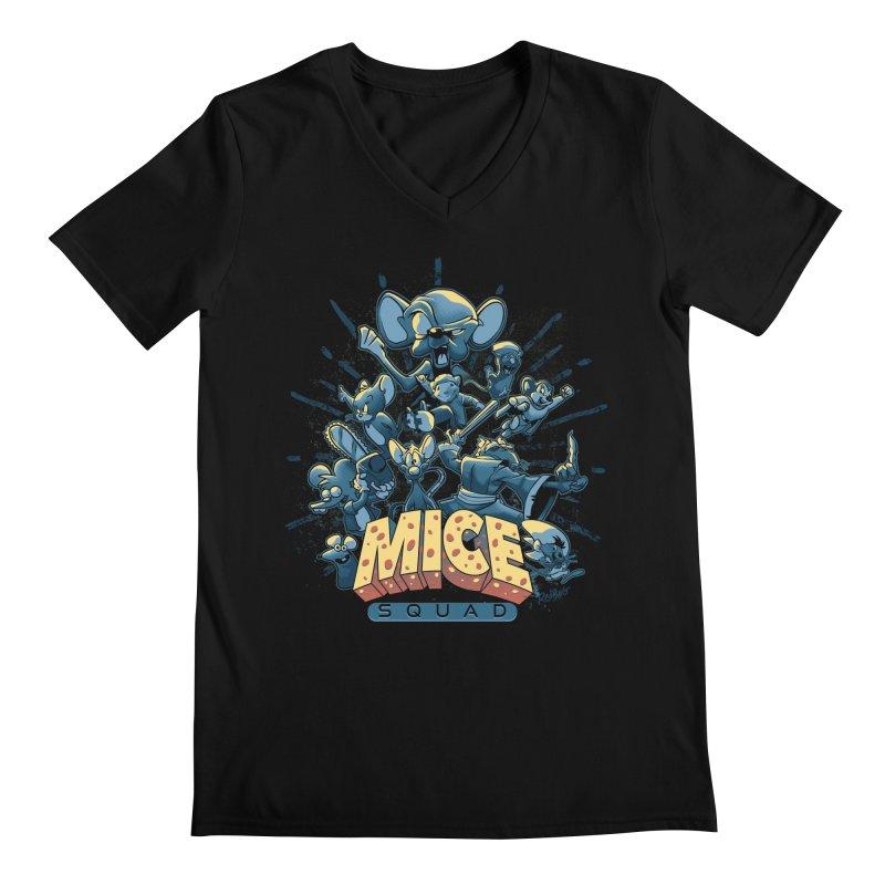 Mice Squad Men's Regular V-Neck by Red Bug's Artist Shop