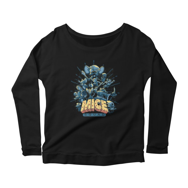 Mice Squad Women's Scoop Neck Longsleeve T-Shirt by Red Bug's Artist Shop