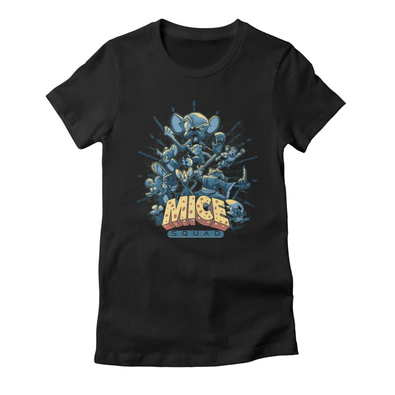 Mice Squad Women's Fitted T-Shirt by Red Bug's Artist Shop