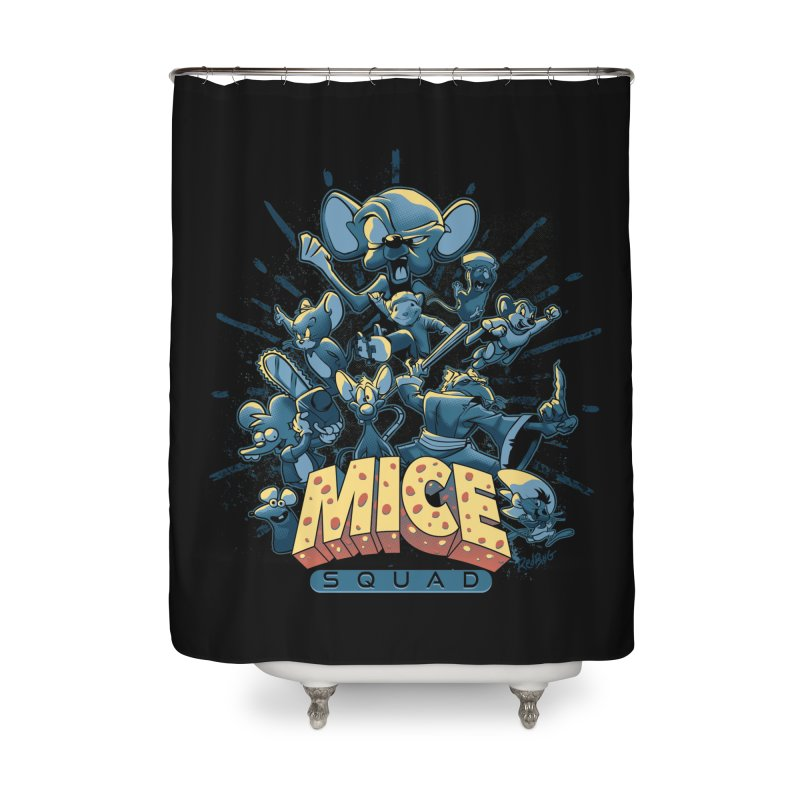 Mice Squad Home Shower Curtain by Red Bug's Artist Shop