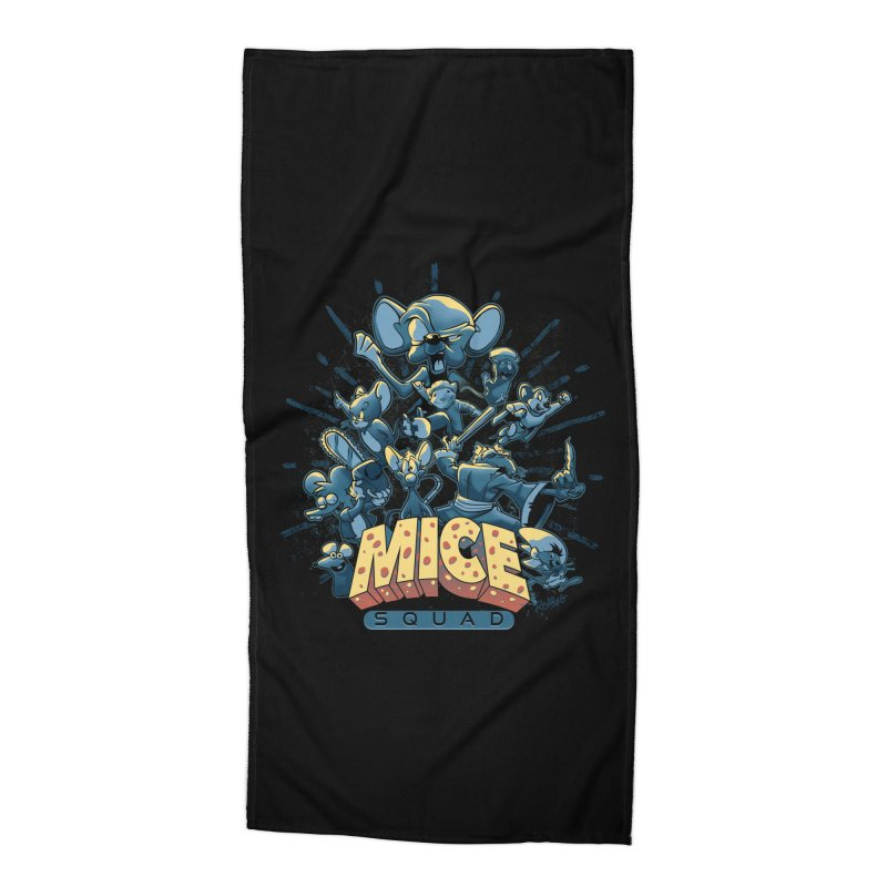 Mice Squad Accessories Beach Towel by Red Bug's Artist Shop