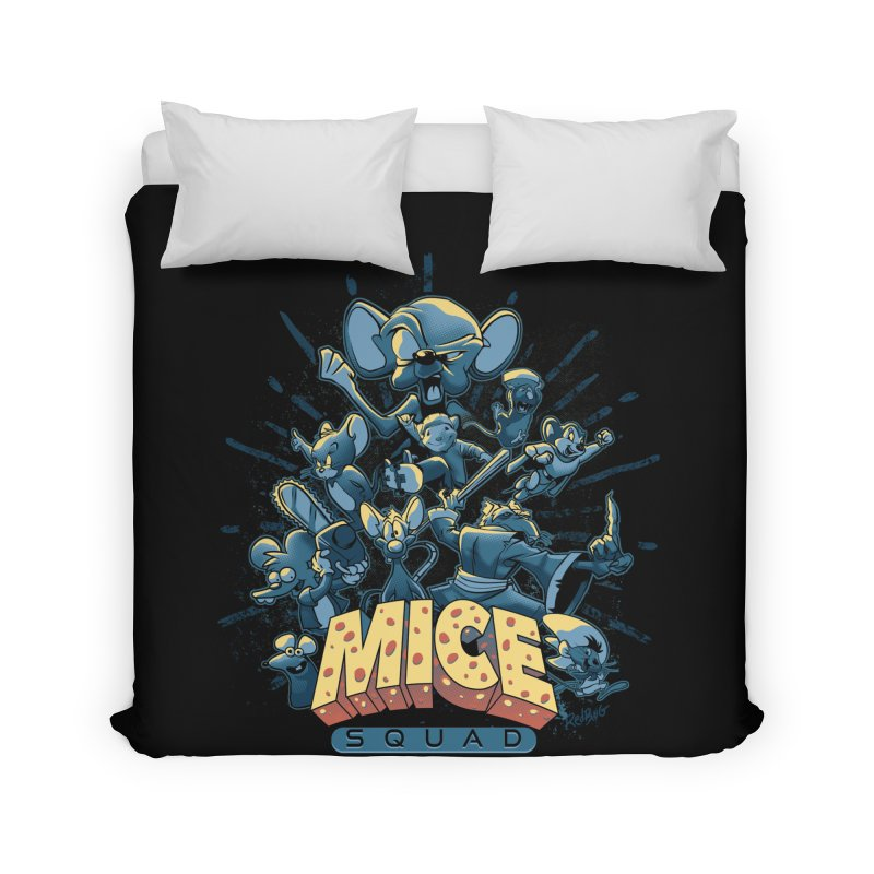 Mice Squad Home Duvet by Red Bug's Artist Shop