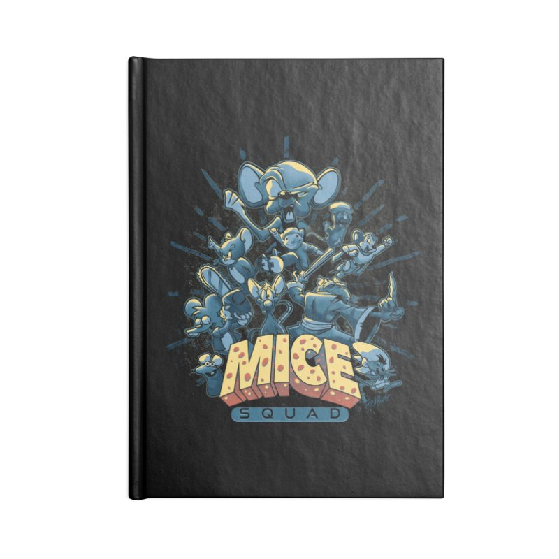 Mice Squad Accessories Lined Journal Notebook by Red Bug's Artist Shop