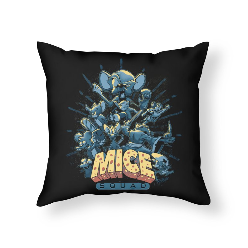 Mice Squad Home Throw Pillow by Red Bug's Artist Shop