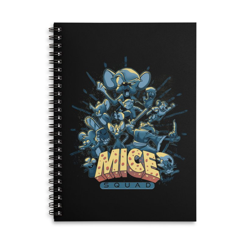 Mice Squad Accessories Lined Spiral Notebook by Red Bug's Artist Shop