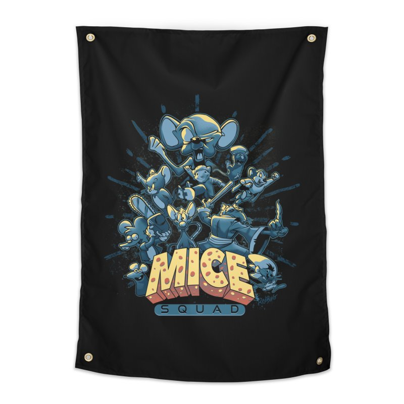 Mice Squad Home Tapestry by Red Bug's Artist Shop