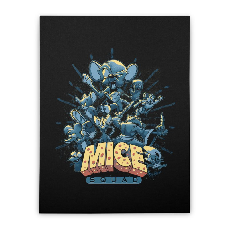 Mice Squad Home Stretched Canvas by Red Bug's Artist Shop