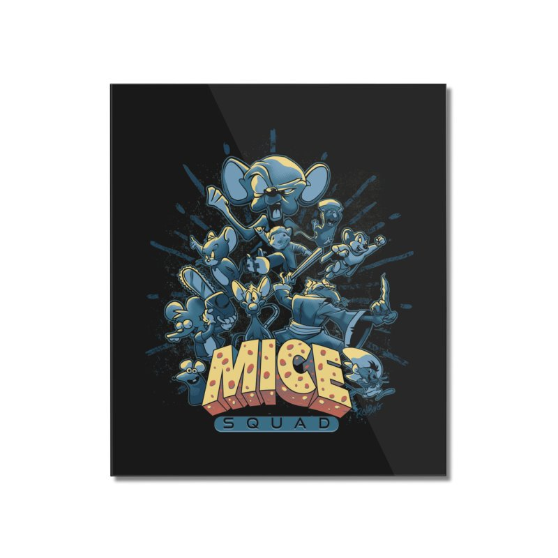 Mice Squad Home Mounted Acrylic Print by Red Bug's Artist Shop
