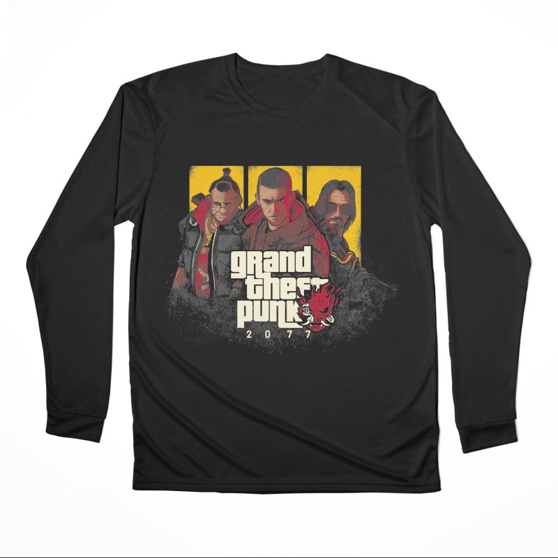 Grand Theft Punk Women's Performance Unisex Longsleeve T-Shirt by Red Bug's Artist Shop