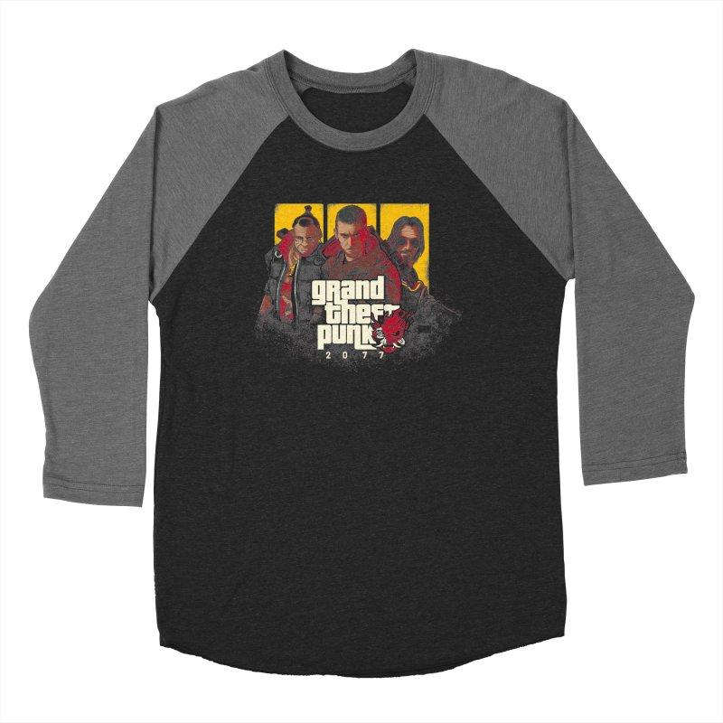 Grand Theft Punk Men's Baseball Triblend Longsleeve T-Shirt by Red Bug's Artist Shop