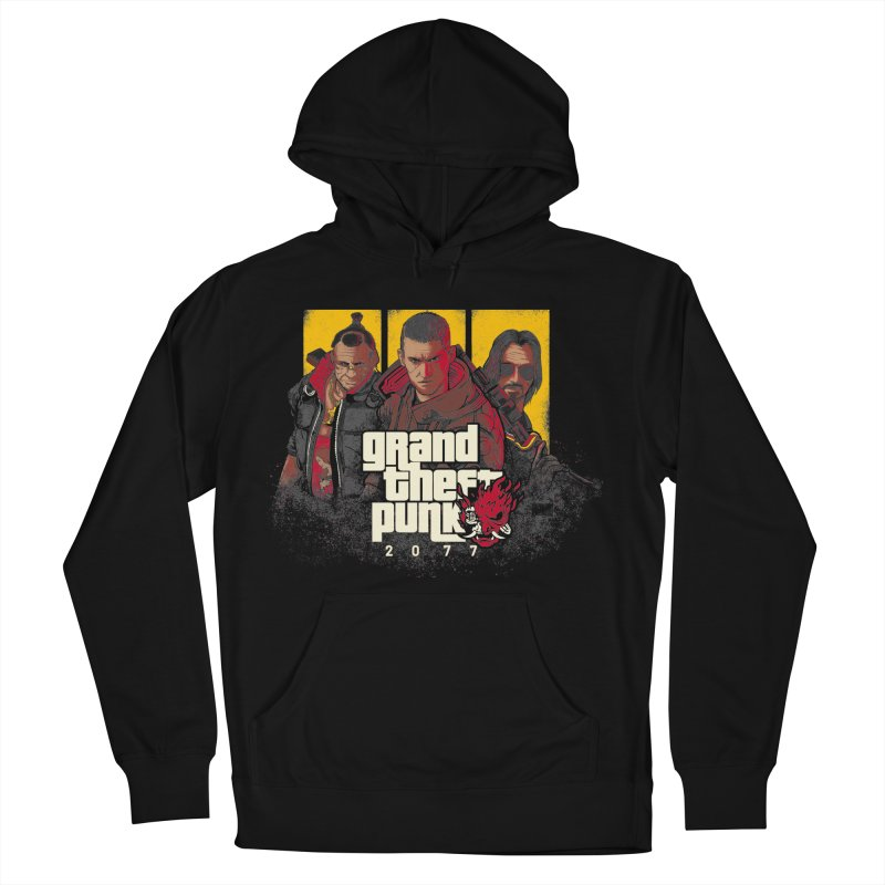 Grand Theft Punk Men's French Terry Pullover Hoody by Red Bug's Artist Shop
