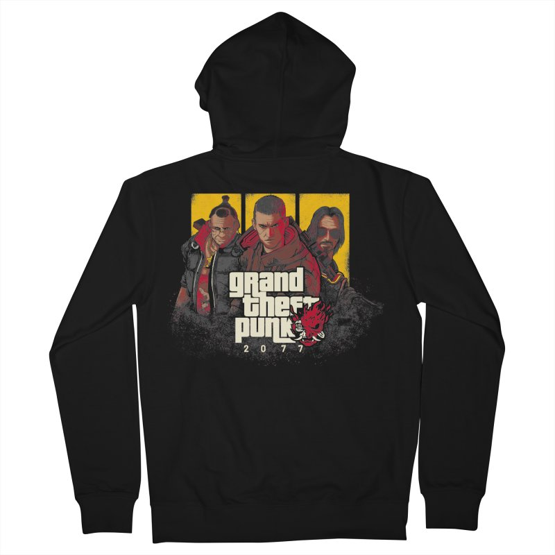 Grand Theft Punk Men's French Terry Zip-Up Hoody by Red Bug's Artist Shop