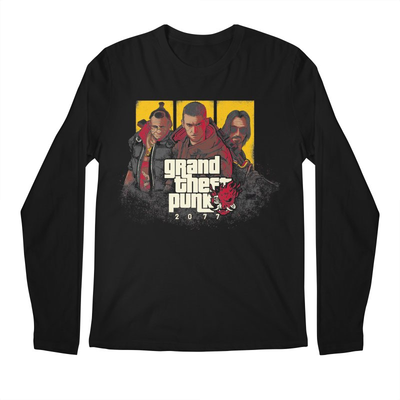 Grand Theft Punk Men's Regular Longsleeve T-Shirt by Red Bug's Artist Shop