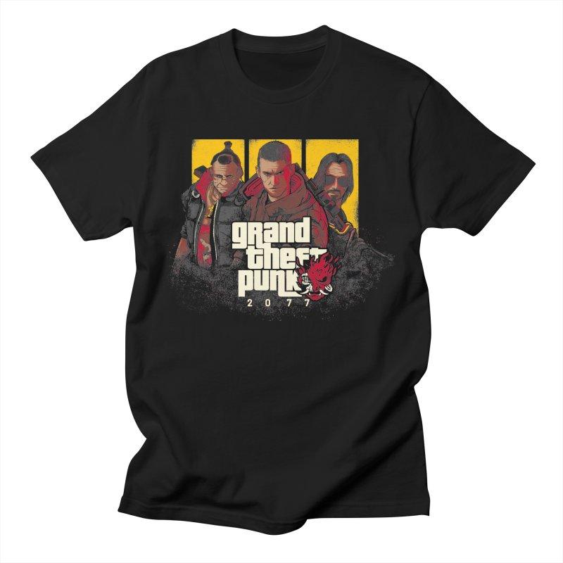 Grand Theft Punk Men's Regular T-Shirt by Red Bug's Artist Shop